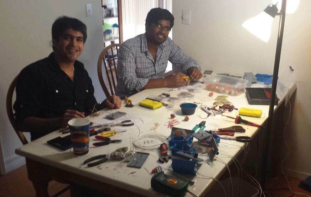 Janak and Mohan, two of the Engineers who helped me fulfill massive backorders