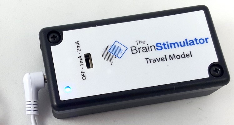 Travel Model tDCS Device with LED and Electrode Cables