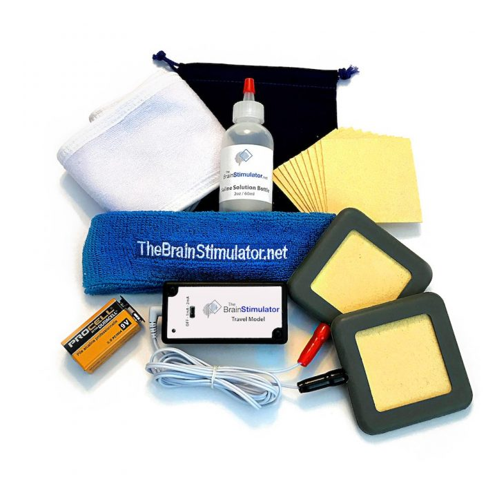 The Travel Model v2.0 Deluxe tDCS Kit including all accessories