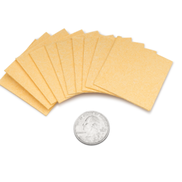 2x2 inch Replacement Sponge Inserts for Amrex tDCS Sponge Electrodes